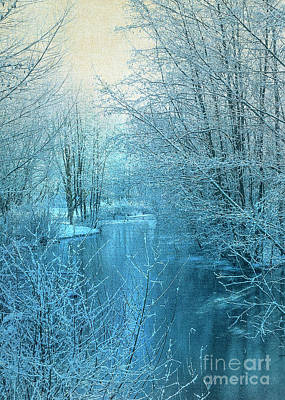 Winter River Art Print by Svetlana Sewell
