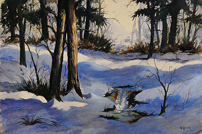 Winter Shadows Art Print by Bob Hallmark