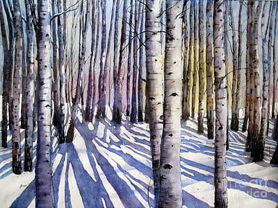 Painting - Winter Shadows by Shirley Braithwaite Hunt