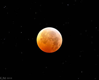 Photograph - Winter Solstice Lunar Eclipse 2010 by Kevin Munro