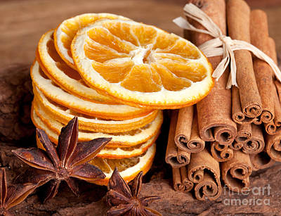 Table Photograph - Winter Spices by Nailia Schwarz