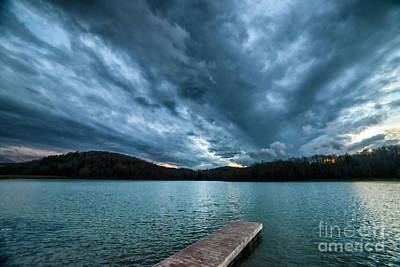 Art Print featuring the photograph Winter Storm Clouds by Thomas R Fletcher