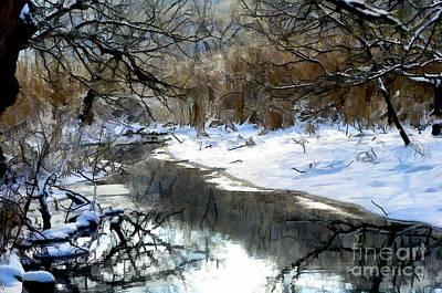 Photograph - Winter Stream  by Elaine Manley