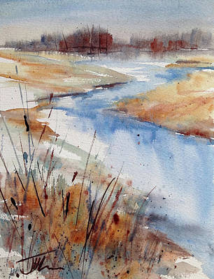 Painting - Winter Stream by Judith Levins