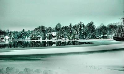 Winter Stream Art Print by Rick Couper