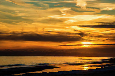 Photograph - Winter Sunset by Cathy Kovarik