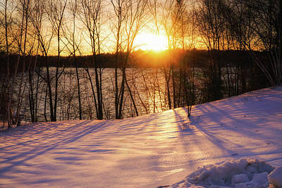 Photograph - Winter Sunset by Lilia D