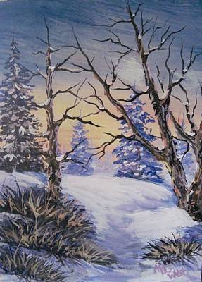 Painting - Winter Sunset by Megan Walsh