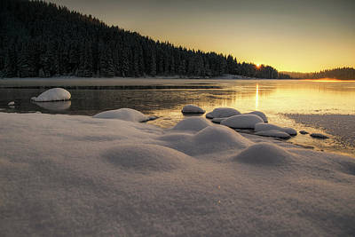 Photograph - Winter Sunset by Plamen Petkov