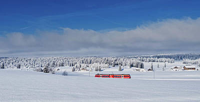 Photograph - Winter Train - Switzerland by Andreas Dobeli