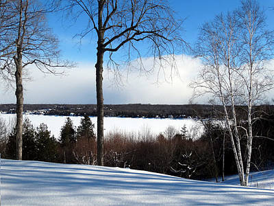 Art Print featuring the photograph Winter View Of Sister Bay by David T Wilkinson