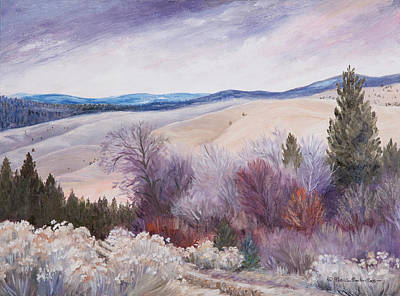 Painting - Winter Walk by Patricia Baehr-Ross