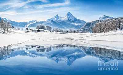Winter Wonderland In The Alps Art Print by JR Photography