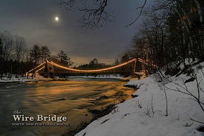 Photograph - Wire Bridge Night by Patrick Groleau