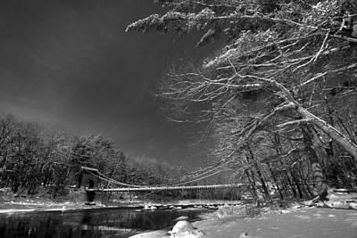 Digital Art - Wire Bridge by Patrick Groleau