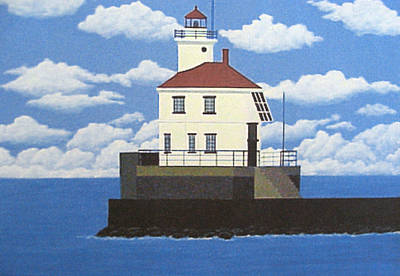 Painting - Wisconsin Point Lighthouse by Frederic Kohli