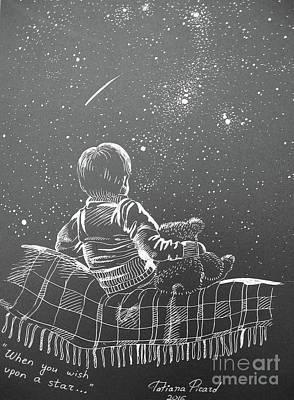 Love Making Painting - Wish On A Star by Tatsiana Picard
