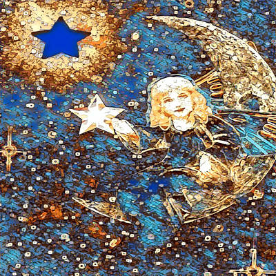 Mixed Media - Wish Upon A Star 1 by Amelia Carrie