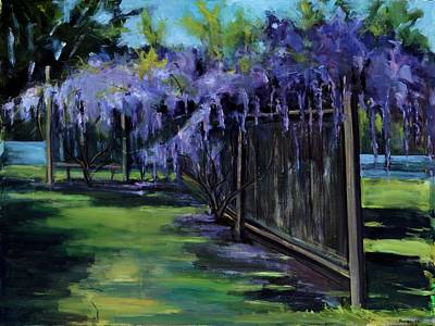 Hacunda Wall Art - Painting - Wisteria by Robert James Hacunda