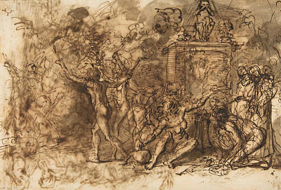 Drawing - Witches' Sabbath by Salvator Rosa