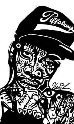 Blackart Digital Art - Wiz Khalifa by Kamoni Khem