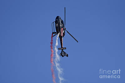 Photograph - Wizard Helobatic Display With Airbus Ec-120b Helicopter by George Atsametakis