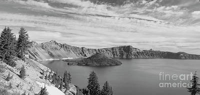Photograph - Wizard Island In Crater Lake by Bruce Block