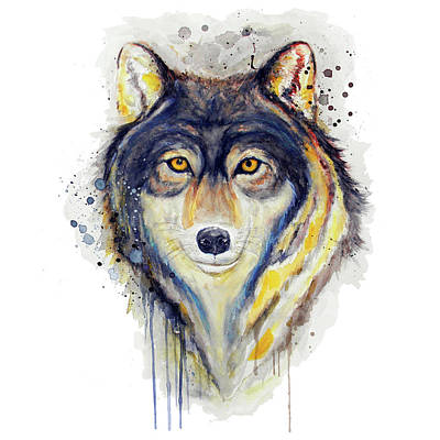 Painting - Wolf Head by Marian Voicu