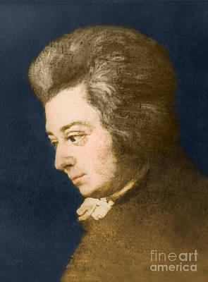 Color Enhanced Photograph - Wolfgang Amadeus Mozart, Austrian by Omikron