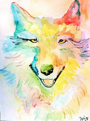 Art Print featuring the painting Wolfie by Denise Tomasura