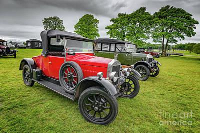 Wolseley Classic Car Art Print by Adrian Evans