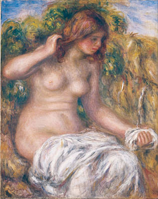 Painting - Woman By Spring by Auguste Renoir