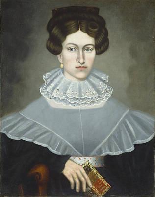 Painting - Woman Holding A Book by Erastus Salisbury Field
