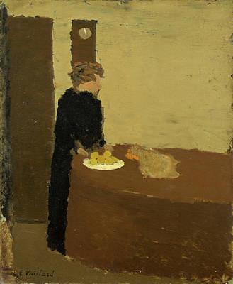 Ladies Painting - Woman In Black by Edouard Vuillard
