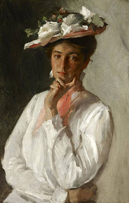 Painting - Woman In White by William Merritt Chase