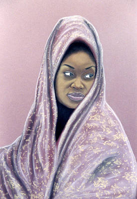 Art Print featuring the pastel Woman Of The Dust by Jan Amiss