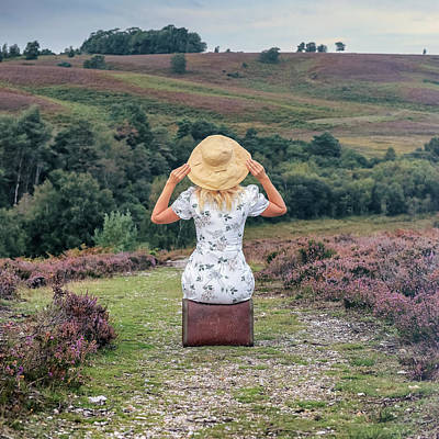 Heather Wall Art - Photograph - Woman On A Hill by Joana Kruse
