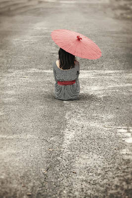 Bad Weather Photograph - Woman On The Street by Joana Kruse