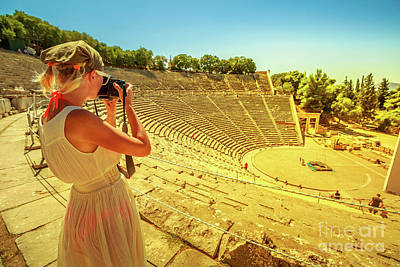 Photograph - Woman Photographer In Europe by Benny Marty