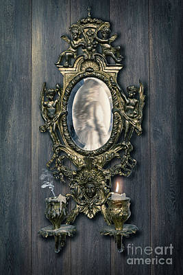 Woman Reflected In French Girondelle Art Print by Amanda Elwell