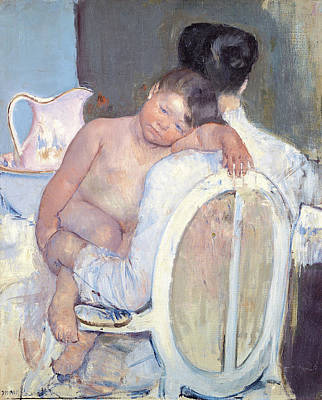 Mary Painting - Woman Sitting With A Child In Her Arms by Mary Cassatt