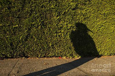 Photograph - Woman Wearing Bird Mask Silhouetted by Jim Corwin