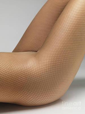 Woman Wearing Pantyhose Art Print by Oleksiy Maksymenko