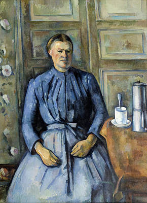 Teapot Painting - Woman With A Coffeepot by Paul Cezanne