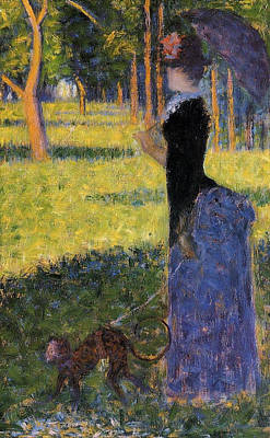 Seurat Painting - Woman With A Parasol by Georges Seurat