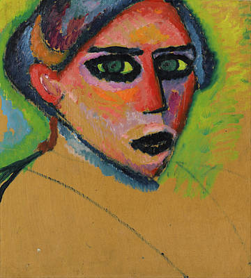 The Blue Face Painting - Woman's Face by Alexej von Jawlensky