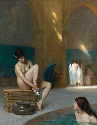 Jean-leon Gerome Painting - Women In Bath by Jean-Leon Gerome