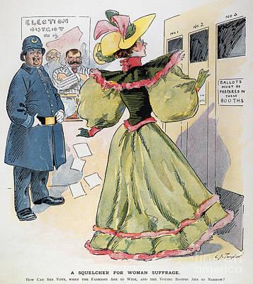 Womens Rights Cartoon Art Print by Granger