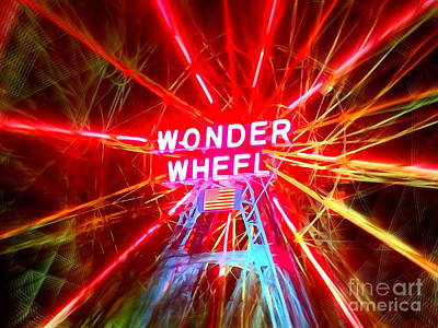 Photograph - Wonder Wheel by Ed Weidman