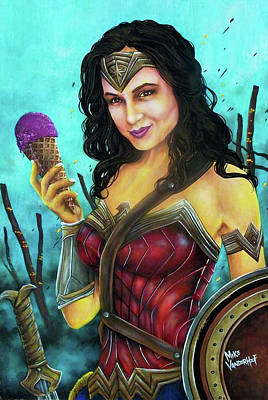 Painting - Wonder Woman by Michael Vanderhoof